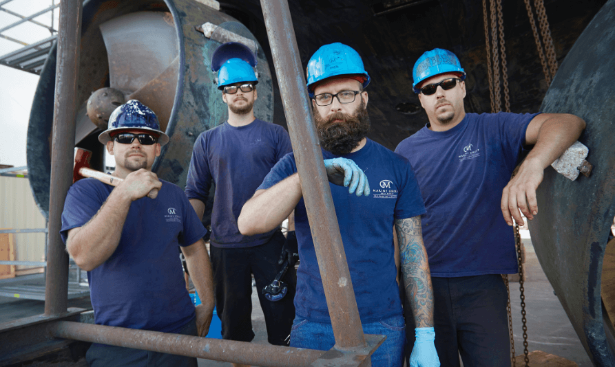The crew of Marine Group Boat Works