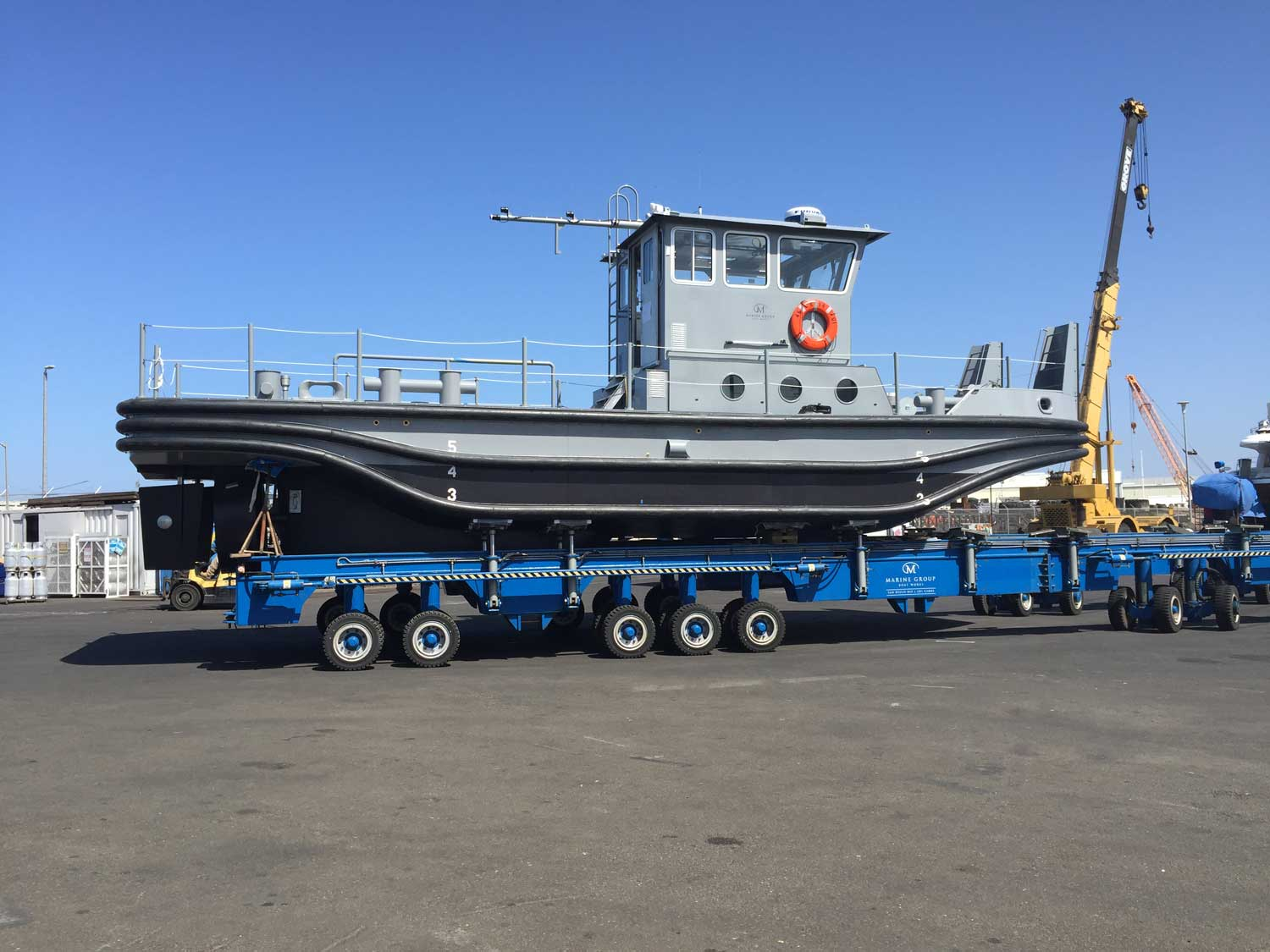New construction boat out of water