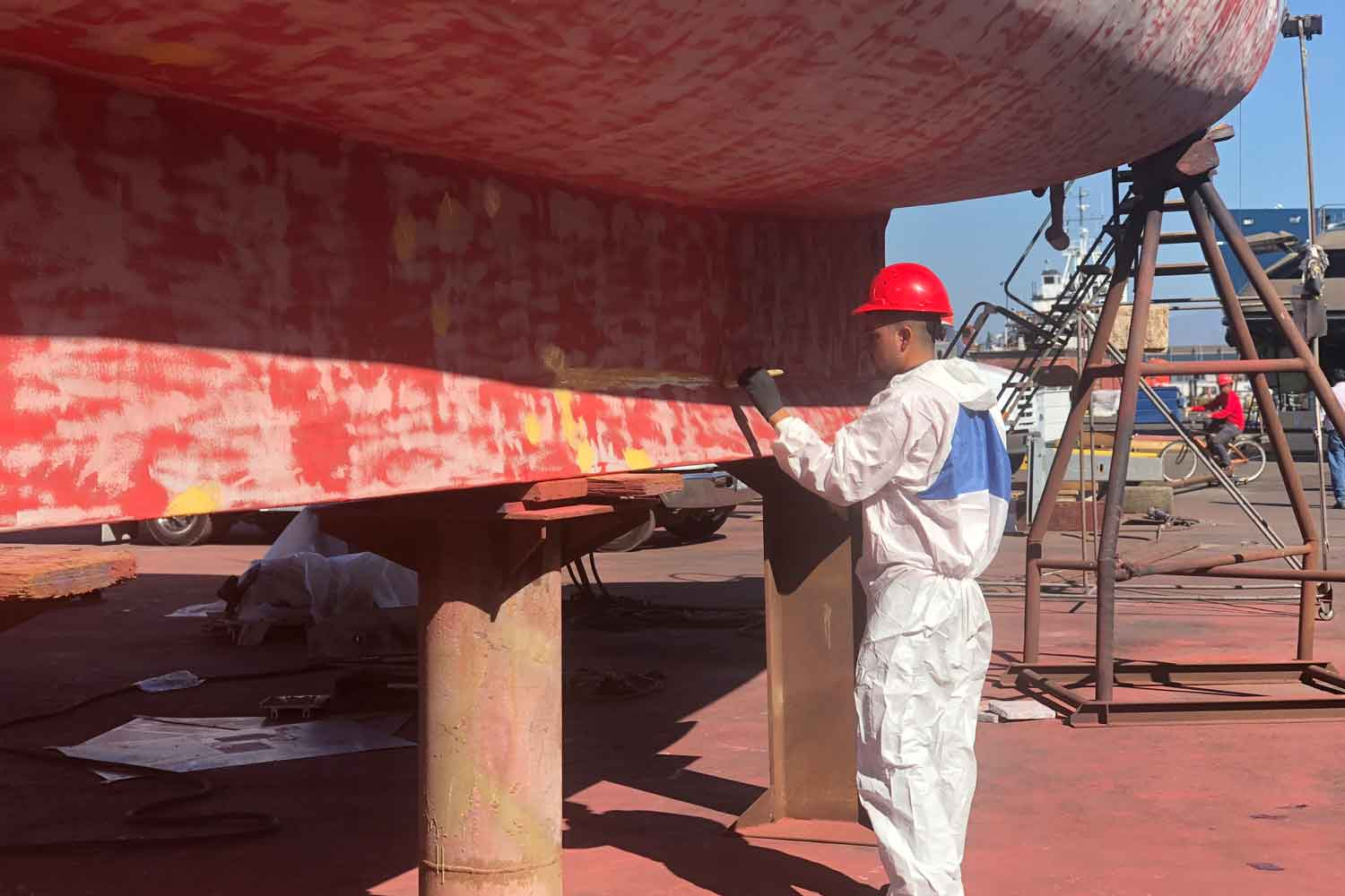 coating & preservation on a boat